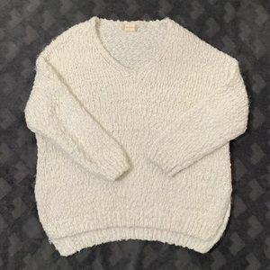 Cream Altard State Eyelash Sweater S/M